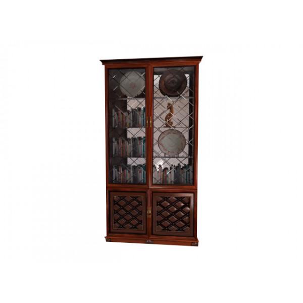Гостиная Ванесса Шкаф 2-х дверный остеклённый