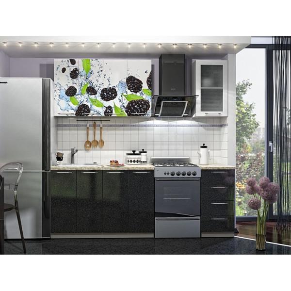 Кухня 1.6 МДФ с принтом (рисунок)