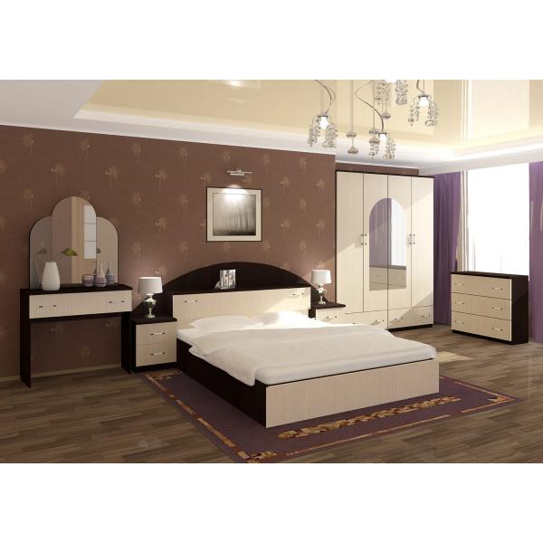 Спальный гарнитур Александра с прикроватным блоком мдф