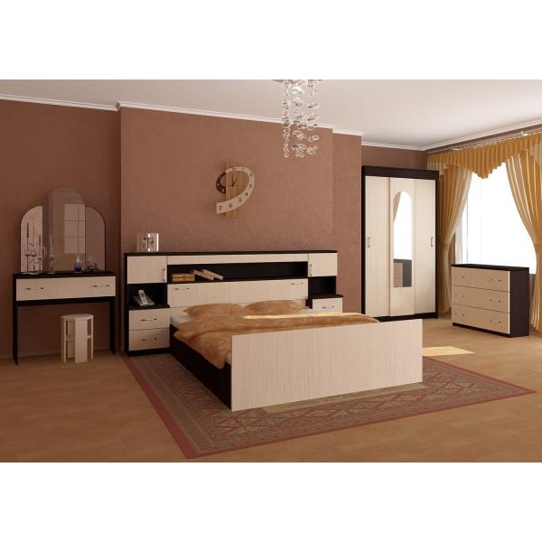Спальный гарнитур Бася с прикроватным блоком ЛДСП